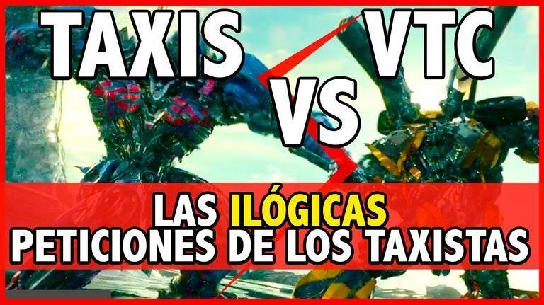 La absurda guerra de los Taxis vs las VTC (Uber/Cabify)