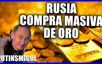 La estrategia de Rusia ante una crisis: Comprar masivamente oro y vender dólares