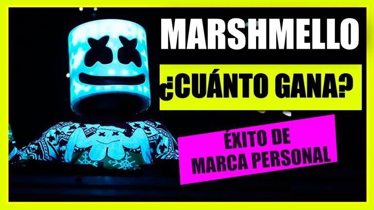 Marca personal: Caso de éxito de DJ Marshmello ¿Cuánto gana?