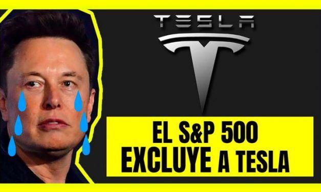 Tesla ha sido excluida del mayor índice bursátil de Estados Unidos, El S&P 500